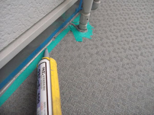 廊下防水長尺シート端末シーリング